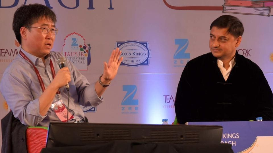Ha-Joon Chang during the session The Secret History of Capitalism  at the Jaipur Literature Festival in Jaipur.