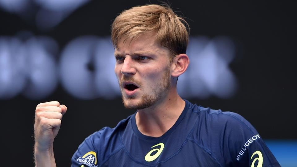 David Goffin became the first male player from Belgium to reach the Australian Open quarters after beating Dominic Thiem on Monday.