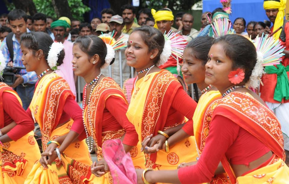 Tribal presents traditonal dance dance during the