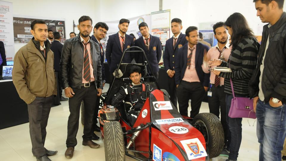 A formula 1 car, designed and developed by the students of Ambalika Institute, was the star attraction of the event.