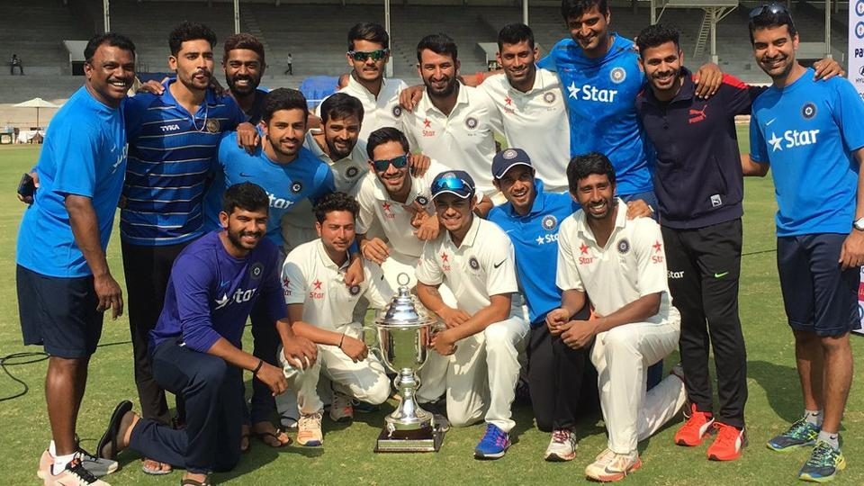 Cheteshwar Pujara and Wriddhiman Saha were the architects of Rest of India's Irani Trophy win against Gujarat in Mumbai. Saha scored an unbeaten double hundred while Pujara scored a century