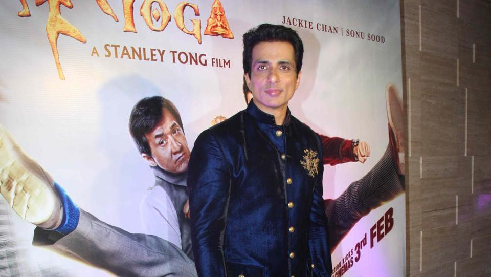 Sonu Sood arrives for an event in promotion of Kung Fu Yoga. (Pramod Thakur/HT Photo)