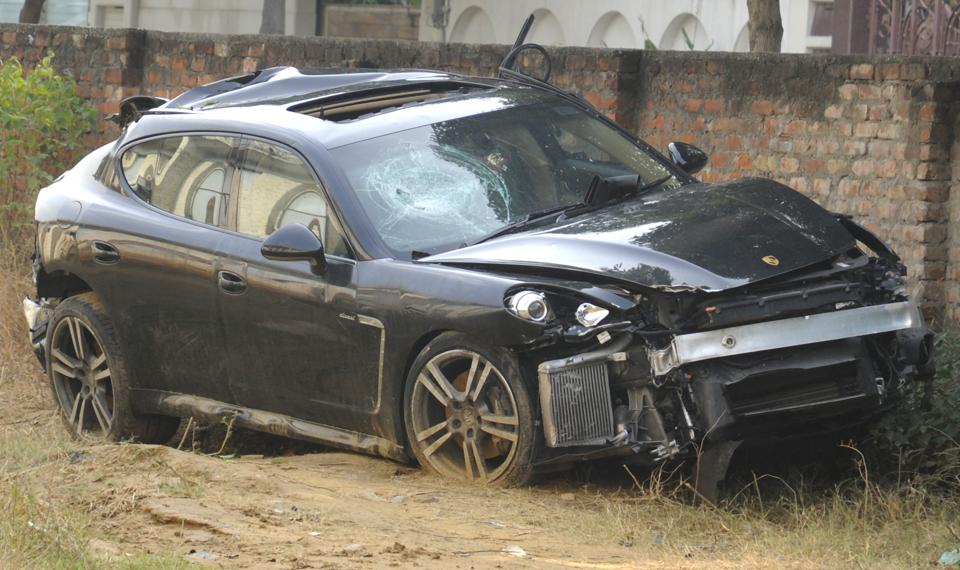 A speeding Porsche had hit seven labourers working on Gurgaon expressway at Shankar Chowk on Monday. One person died and the others were seriously injured.