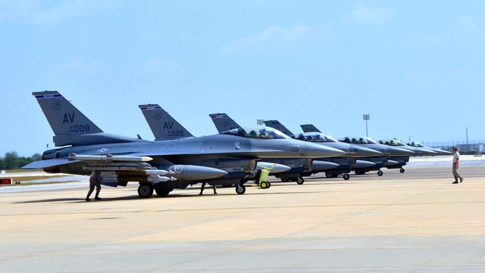 US air force base lockdown