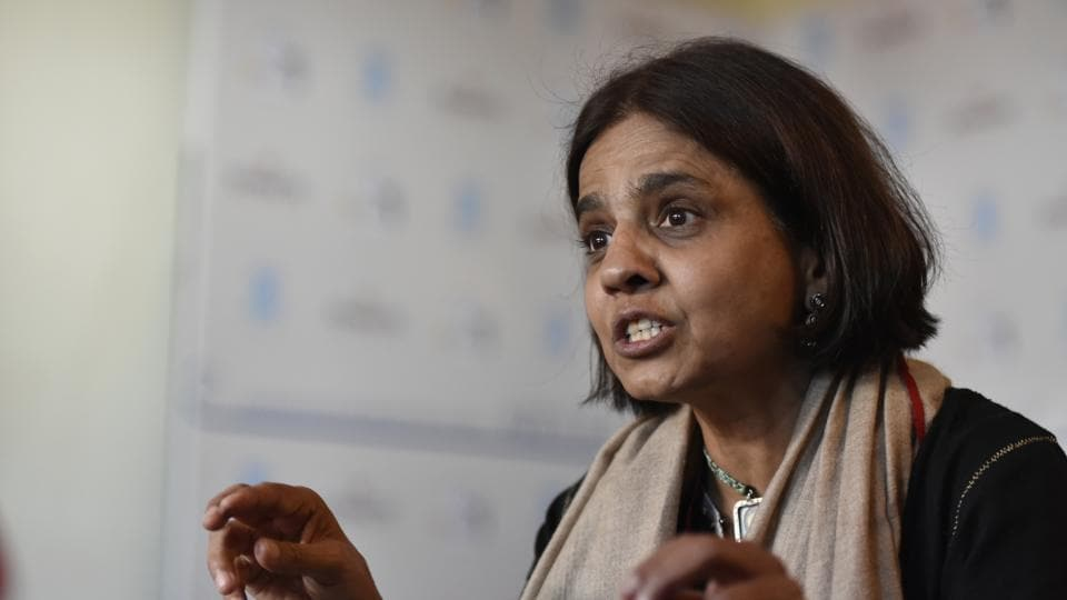 Sunita Narain, director general, Centre for Science and Environment, in conversation with HT Jaipur Literature Fest 2017 in Jaipur.
