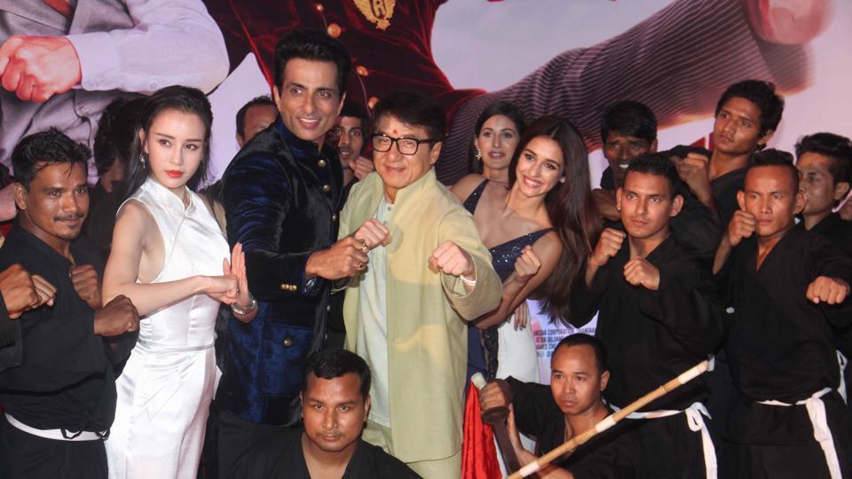 Jackie Chan promotes his film Kung Fu Yoga in Mumbai. (Pramod Thakur/HT PHOTO)
