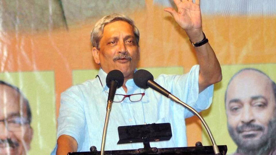 Union defence minister Manohar Parrikar in Goa.