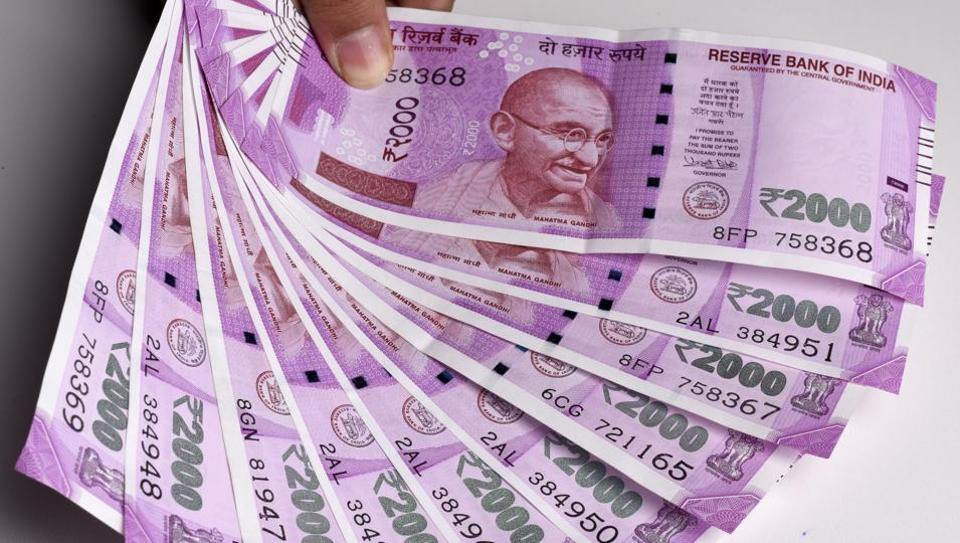The new Rs 2000 currency notes.