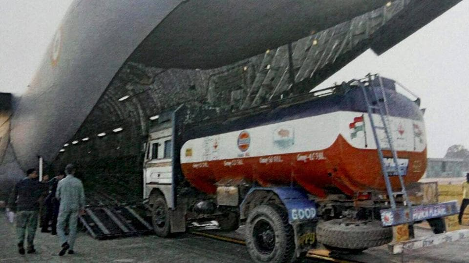 One loaded oil tanker was punctured by bullets but did not explode.