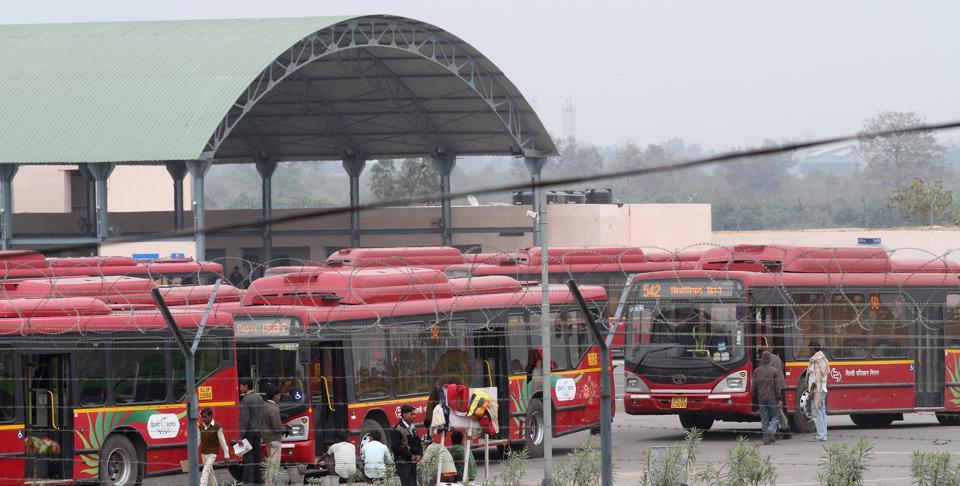 Millennium bus depot,DTC depot,DTC bus parking