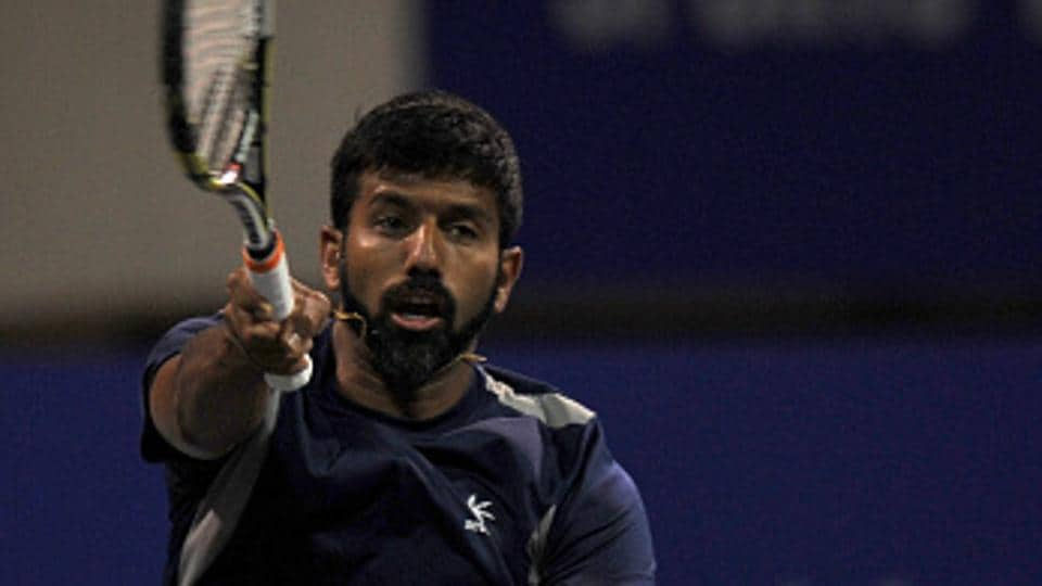 Rohan Bopanna (in pic) and partner Gabriela Dabrowski took one hour and 16 minutes to beat Lukasz Kubot and Chan Yung-jan at the Australian Open on Tuesday.