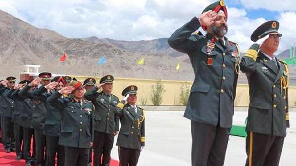 File photo of the Sino-Indian Border Personnel Meet in the Daulat Beg Oldie area in Ladakh in February 2016.