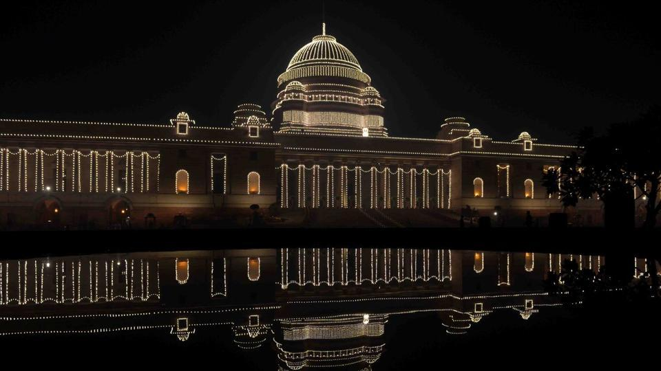Rashtrapati Bhawan has also been illuminated to celebrate the Republic Day. (PIB)