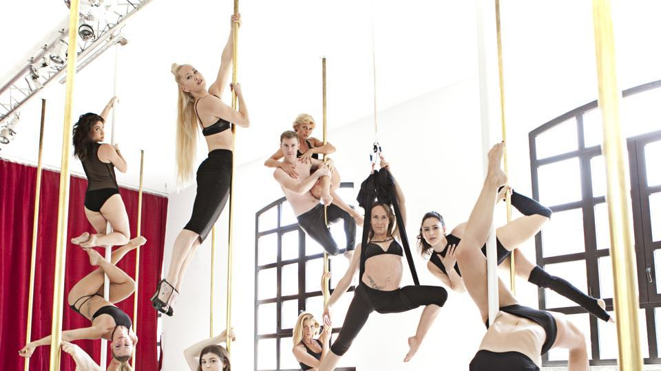 Pole dance fitness is an acrobatic discipline that has derived from dance