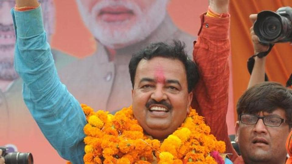 """Maurya on Tuesday again raked up the contentious issue of Ram Temple ahead of the first phase of Uttar Pradesh Assembly elections starting February 11, allegedly saying a """"grand"""" temple will be built in Ayodhya if BJP secures an outright majority."""