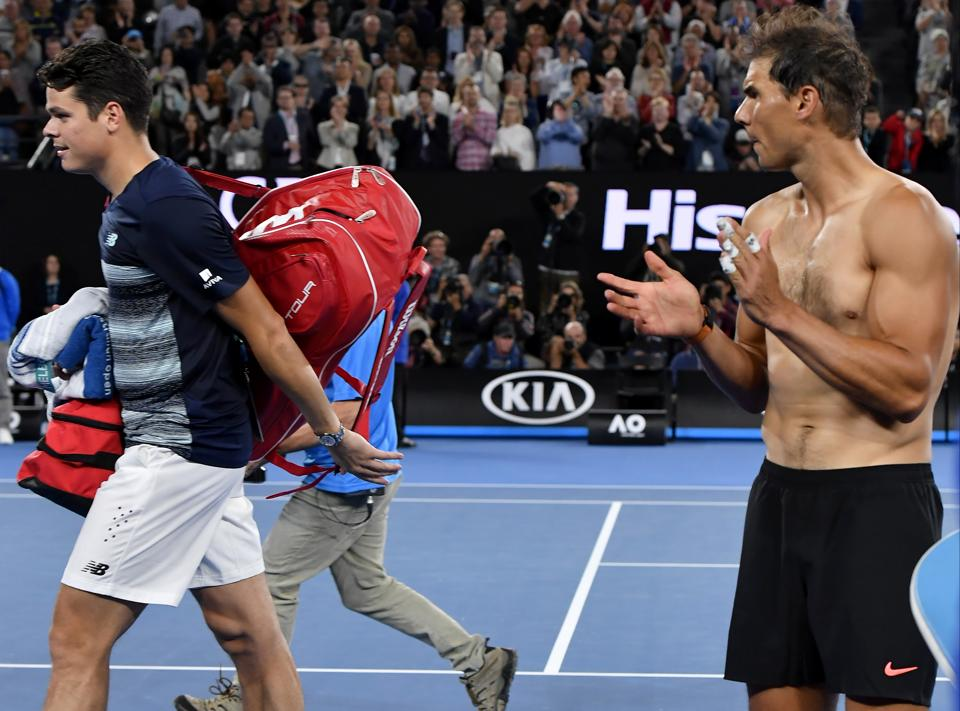 Nadal appreciated Raonic's efforts after his quarterfinal win over the Canadian. (AP)