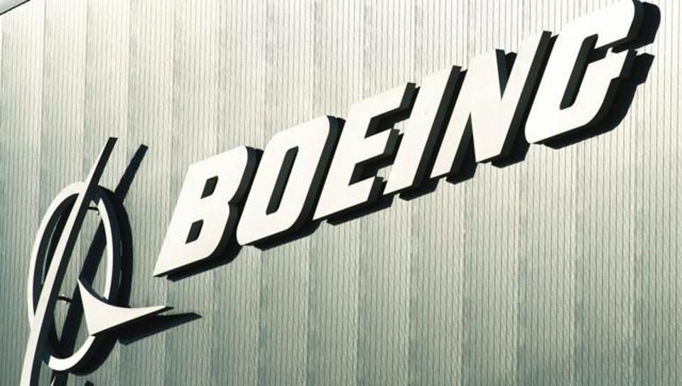 This file photo shows the Boeing logo at Boeing's new facilities in North Charlston, South Carolina.