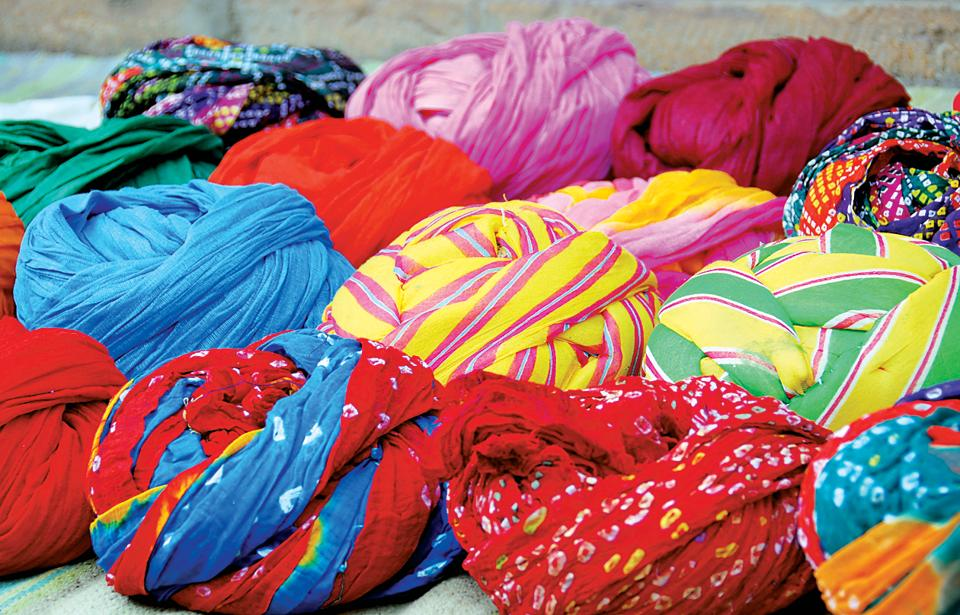 In Punjab, men's turbans are as colourful as women's salwar kameezes
