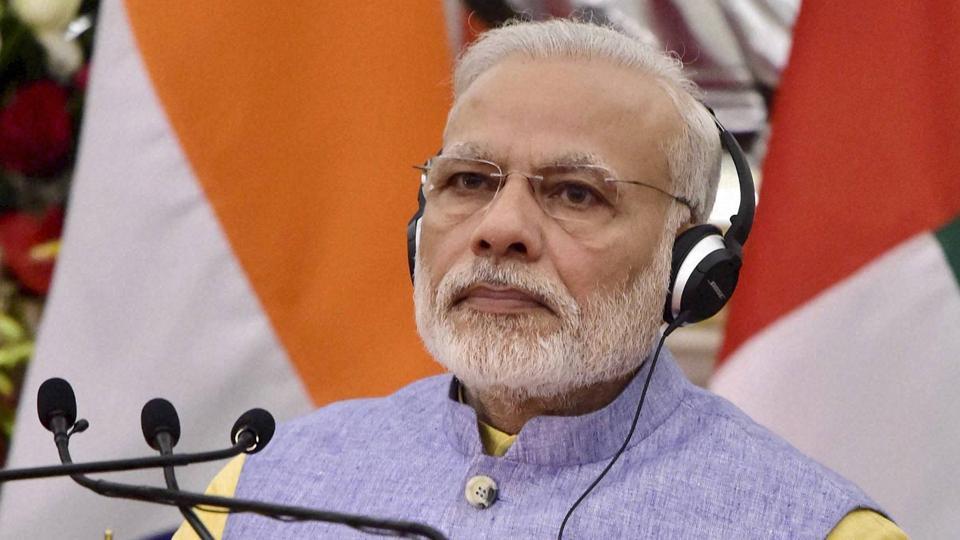 Prime Minister Narendra Modi spoke to USPresident Donald Trump on Tuesday night.