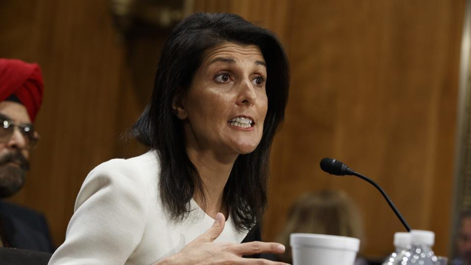 The US Senate on Tuesday overwhelmingly confirmed Nikki Haley, the governor of South Carolina, as US ambassador to the United Nations.