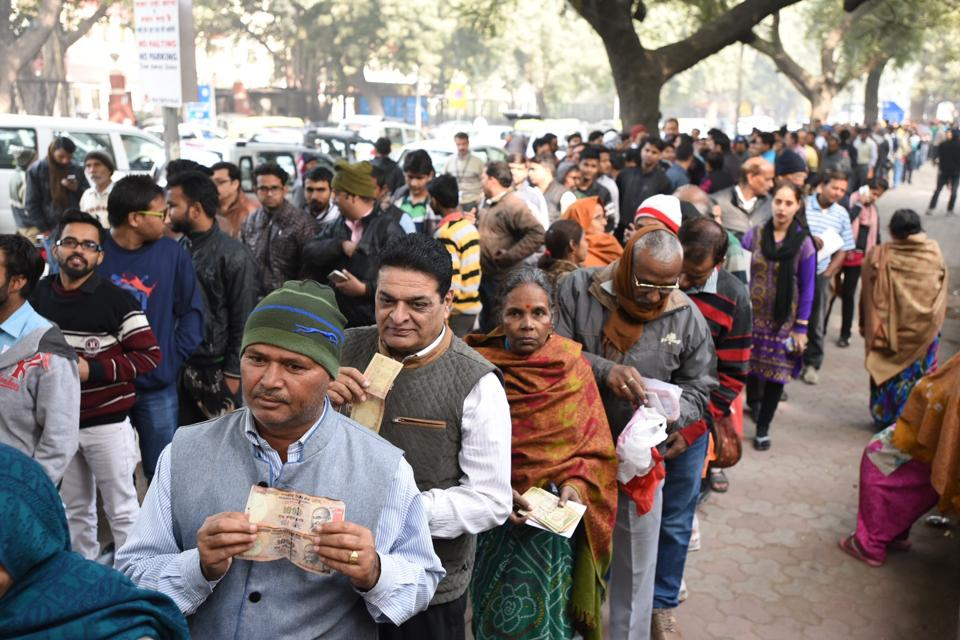 The Global Times said the demonetisation move resulted in severe mental and physical trauma for older citizens who spend hours in bank queues trying to deposit the scrapped notes.