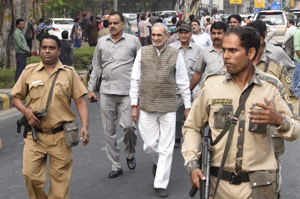 Congress leader Sajjan Kumar is an accused in a case  related to the killing of three Sikhs during the 1984 anti-Sikh riots.