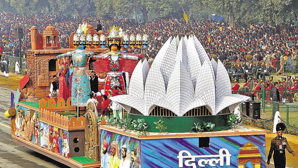 Republic Day,tableaux,Ramlila Maidan