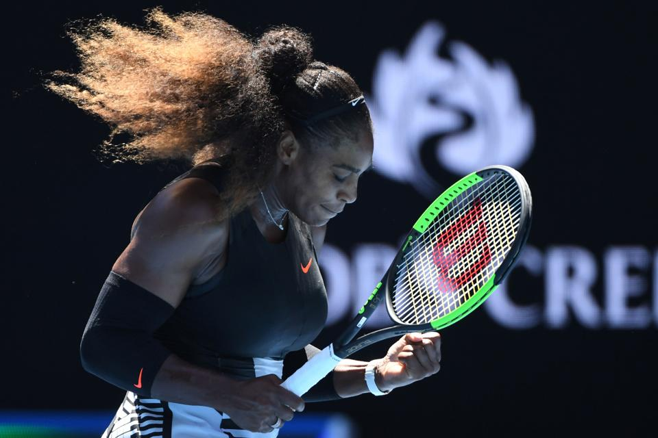 Serena Williams defeated Johanna Konta 6-2, 6-3 in a women's singles quarter-final match. (AFP)