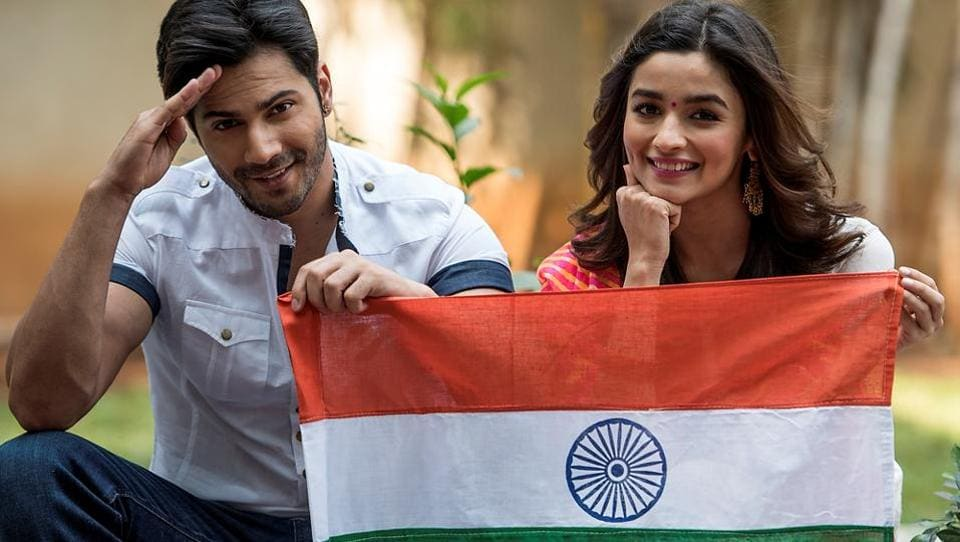Alia Bhatt's earliest memory of Republic Day is participating in the flag hoisting ceremony at her school. Varun Dhawan remembers drawing the tricolour in the arts classes with crayons. (Satish Bate/HT PHOTO)