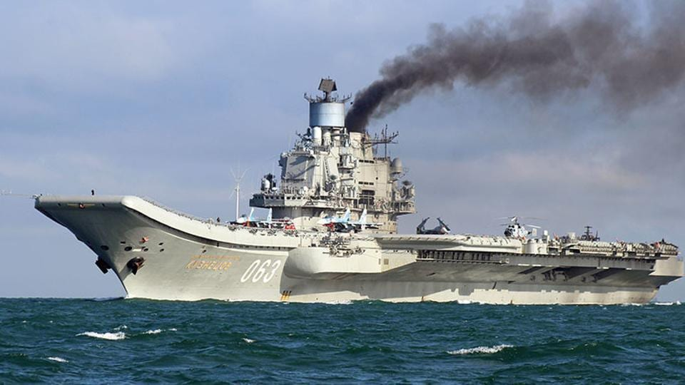 The Russian warship travelled through the North Sea to Syria last year, to help Moscow ally President Bashar al-Assad's troops recapture rebel areas of Aleppo city after four years of fighting there.
