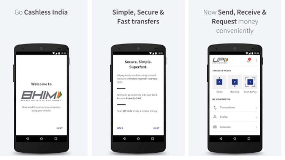 BHIM app,wallets,e-wallets