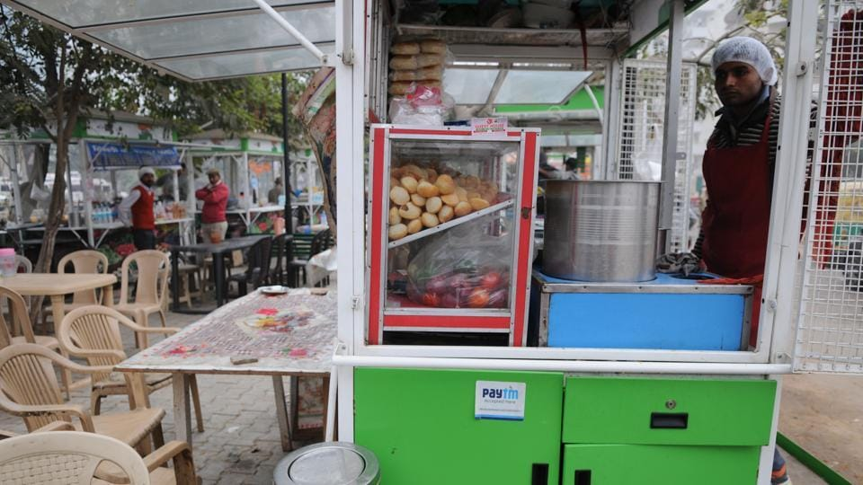 Gurgaon,Sector 31,relocation of street vendors