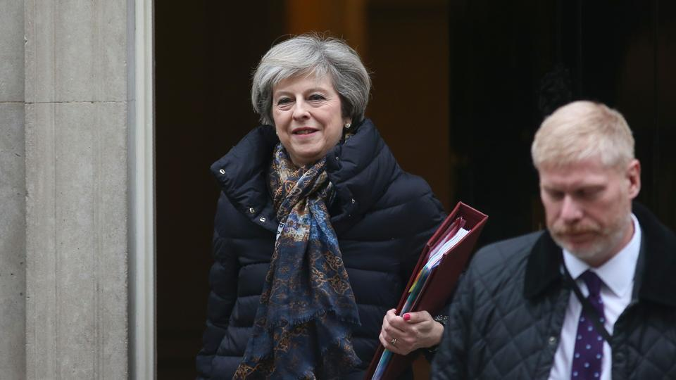 May is on her way to the United States where she will meet Trump on Friday. She is the first world leader to meet him since his inauguration last week.