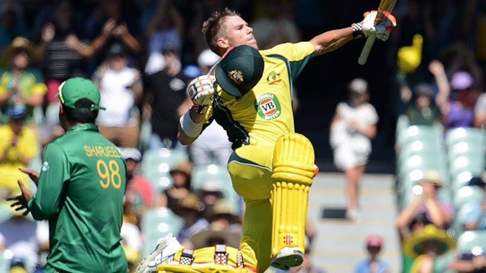 David Warner scored a brilliant century to guide Australia to a 57-run win over Pakistan in Adelaide.