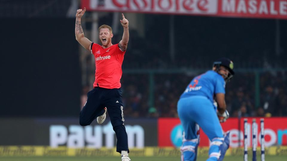 Ben Stokes removed Suresh Raina for 34 as India continued to stumble. (BCCI)