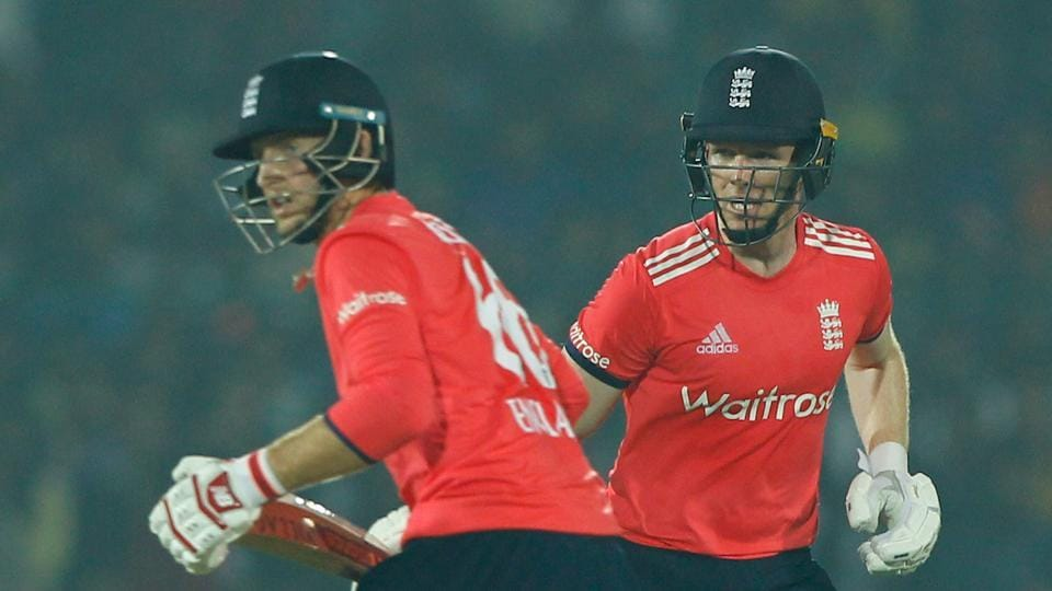Eoin Morgan, along with Joe Root, shared a 83-run stand for the third wicket to put England on track. (BCCI)
