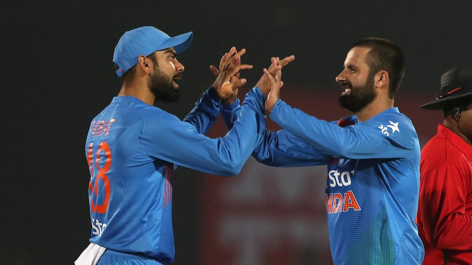 Parvez Rasool got the wicket of Morgan for 51 but it was a little too late for India. (BCCI)