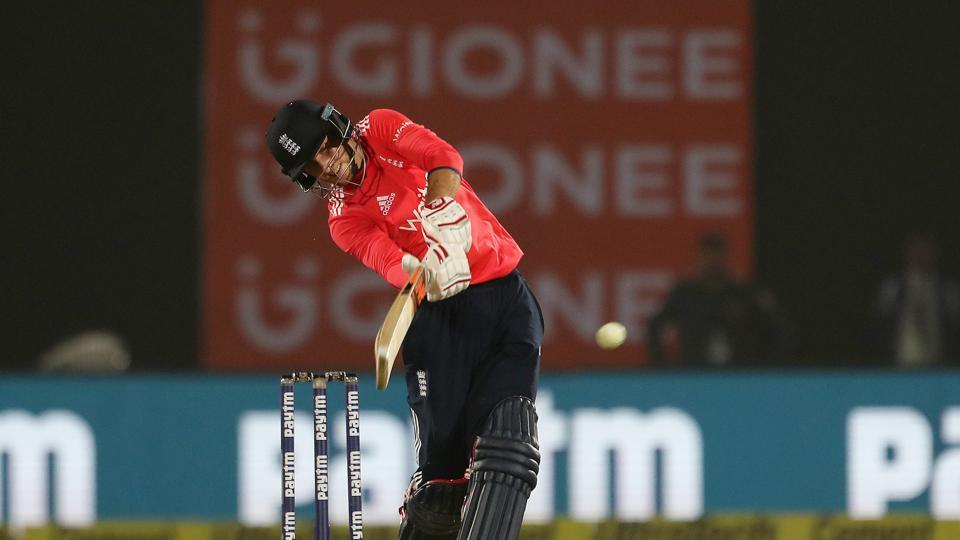 Joe Root slammed two boundaries off Ashish Nehra as England clinched a seven-wicket win to take a 1-0 lead in the three-match series. (BCCI)