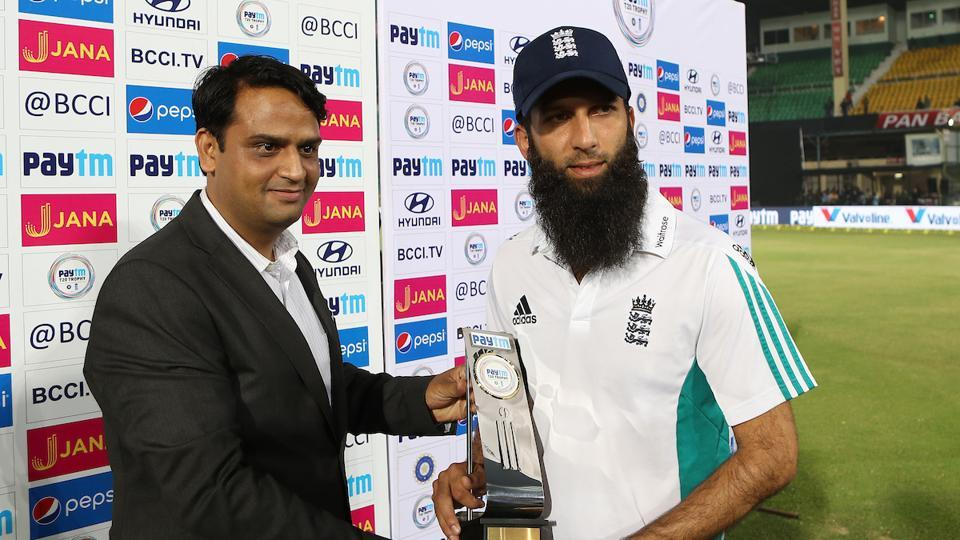 Moeen Ali was named the Man of the Match for his spell of 4-0-21-2. (BCCI)