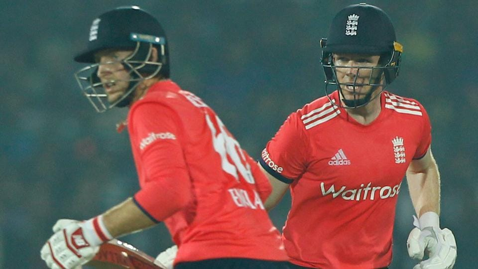 Eoin Morgan slammed his eighth fifty and shared a 83-run stand with Joe Root to help England beat India by seven wickets to take a 1-0 lead in the three-match series.