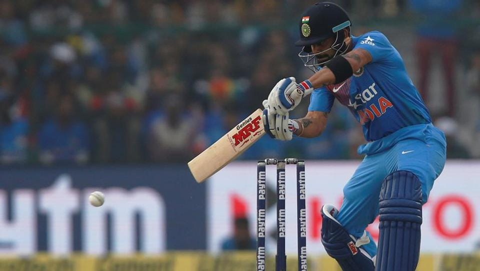 Virat Kohli, India captain, opened for the hosts against England in the 1st T20I in Kanpur.