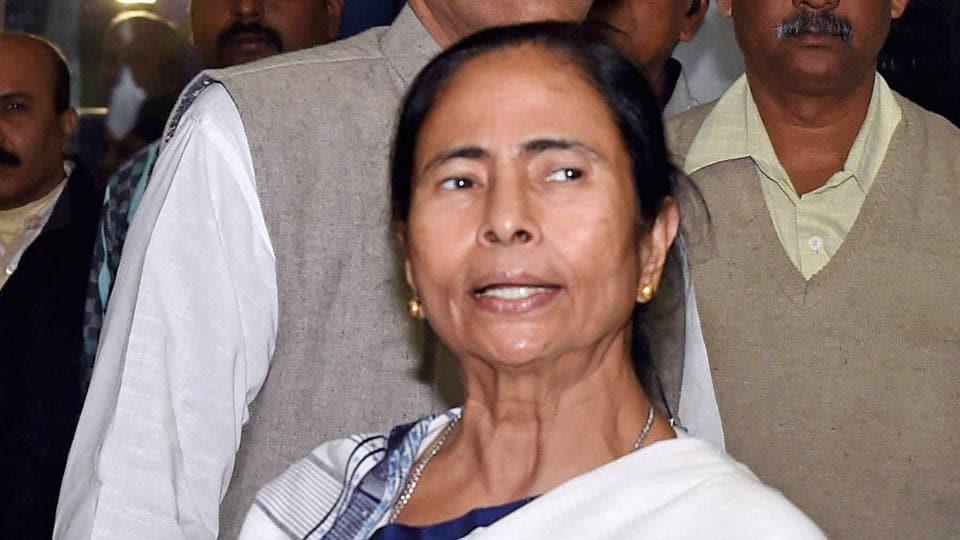 West Bengal chief minister Mamata Banerjee talks to media in Kolkata.