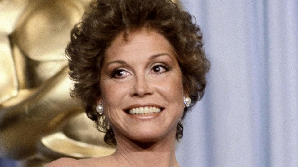 Mary Tyler Moore at the 53rd Academy Awards in Los Angeles. Moore, nominated for Best Actress for her film Ordinary People, lost out to Sissy Spacek for Coal Miner's Daughter.