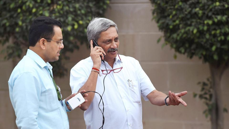 Union defence minister Manohar Parrikar at a visit to the NCC Republic Day Camp – 2017, in New Delhi.