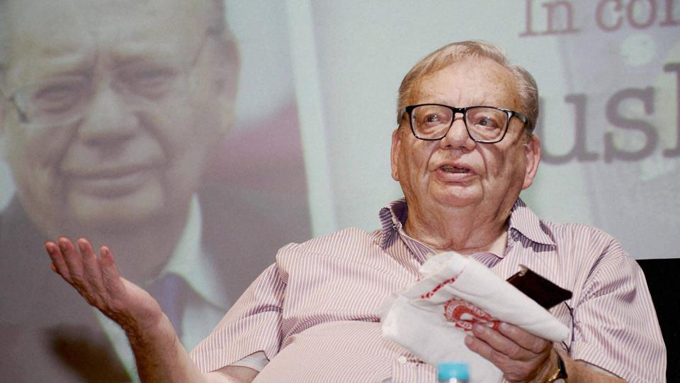 Renowned author Ruskin Bond at the North East Literary Fest 'River Talks' in Guwahati in October, 2016.