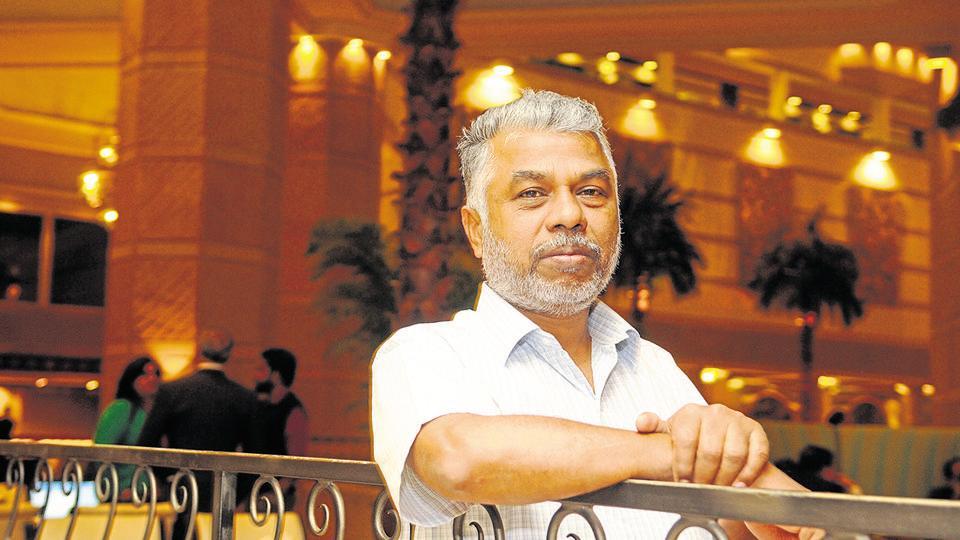 KPerumal Murugan, an Indian author, scholar who writes in Tamil at Taj Bengal before Kolkata Literary Meet 2017 in Kolkata, India, on Tuesday, January 24, 2017.