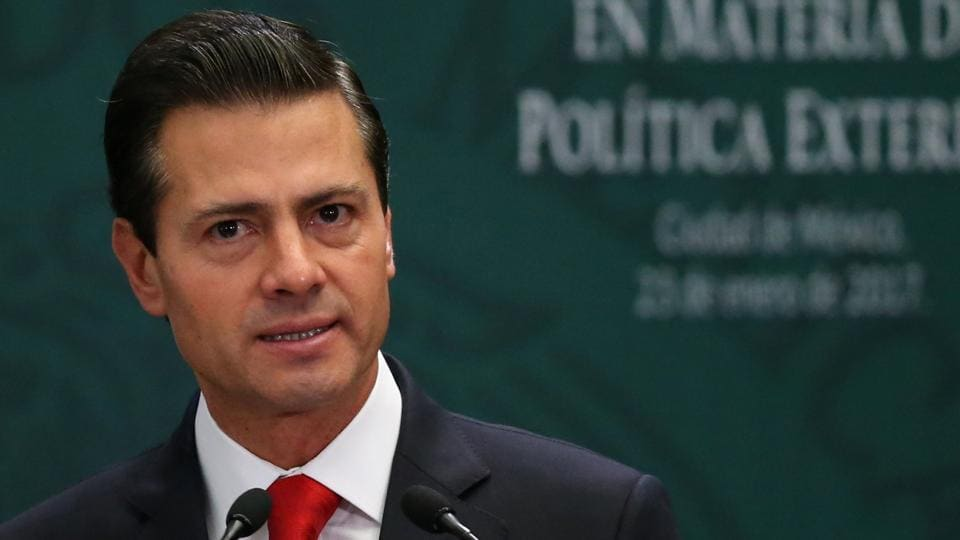 Mexico's President Enrique Pena Nieto said he had scrapped plans to meet Donald Trump next week.