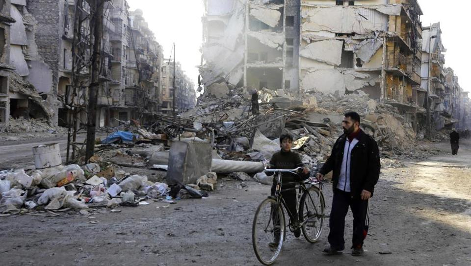 The Syrian Observatory for Human Rights said clashes between Syrian government forces and IS militants southeast of Aleppo blocked the Khanaser-Ithriya road, the government's only supply route into the city