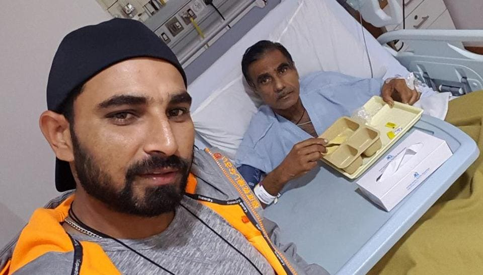 Mohammed Shami had earlier shared this picture with father Tousif  Ali on social media.