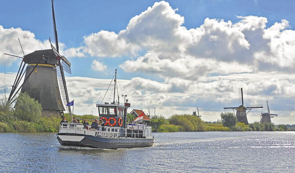 The rural charm of Kinderdijk is best enjoyed while walking